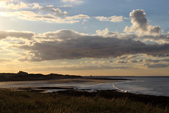 The Castle (Christine Dolan) Tags: sunset sea castle beach landscape northumberland