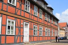Red and black half-timbered house (lorenzhome) Tags: waren halftimbered house mritz mecklenburgvorpommern fachwerk fachwerkhaus rot