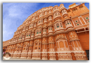 The interesting combination of Rajput and Mughal architecture!