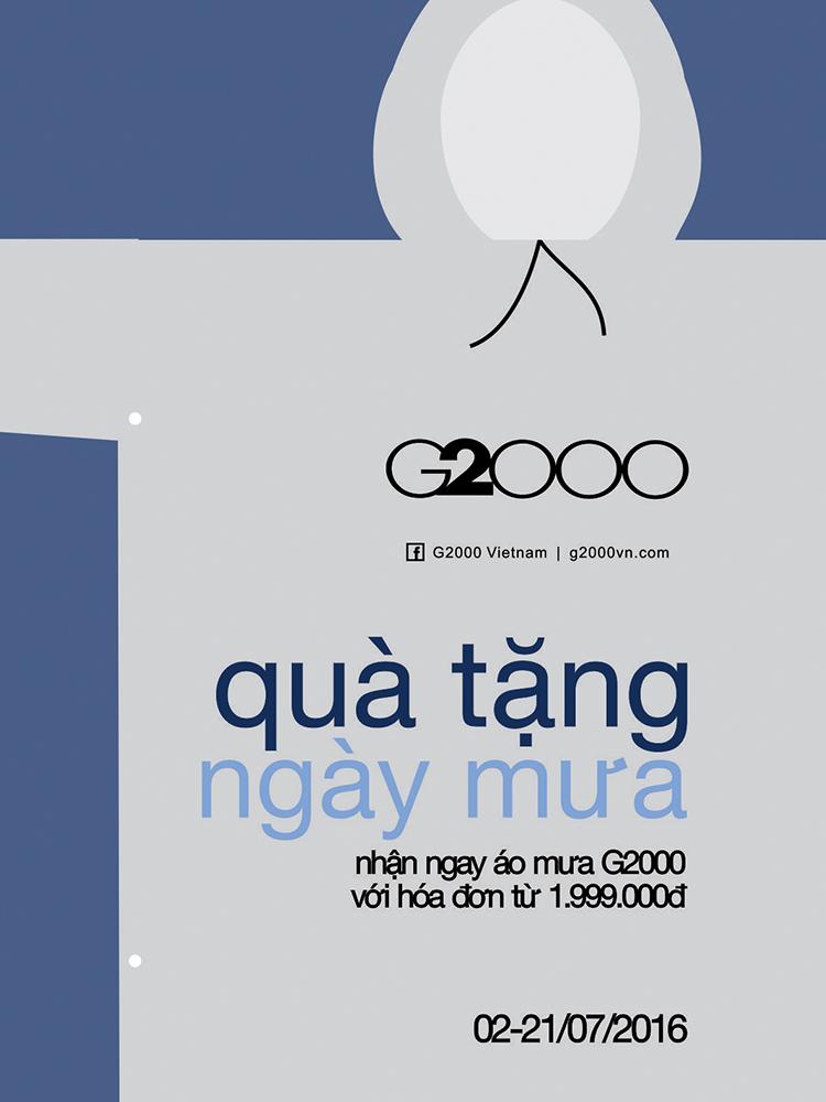 Quà Tặng áo mưa từ G2000