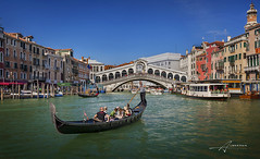 Venice, Rialto Bridge (Albert Photo) Tags: bridge venice italy rialtobridge water river boat europe outdoor traditional tourists transportation rowing oar gondola grandcanal boatman gondolier palazzoducale piazzasanmarco propelled stmarkssquare