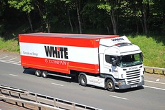 SCANIA R440 - WHITE & Company Removals Forres Morayshire (scotrailm 63A) Tags: trucks removals lorries