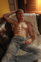 My cousin on the couch (Dannyboy_40) Tags: boy portrait man hot cute sexy male men guy boys look fashion training athletic model underwear muscular interieur young guys best jeans briefs sculture biceps gym abs personne gars homme intrieur bulge