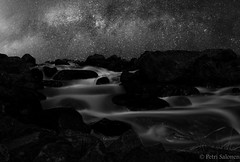 space river (petrisalonen) Tags: longexposure bw art nature water finland river rocks space astrophotography bnw milkyway imatra kaupunkipuro