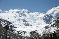 Morteratsch glacier (FrVi) Tags: sky snow mountains nature landscape day clear montagna paesaggio cresta ghiacciaio allaperto treninorossodelbernina cimadimontagna versantedellamontagna