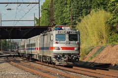 SEPTA AEM-7 #2305 @ Woodbourne, PA (Darryl Rule's Photography) Tags: summer sun june train trains septa outbound aem7 westtrentonline woodbournerd