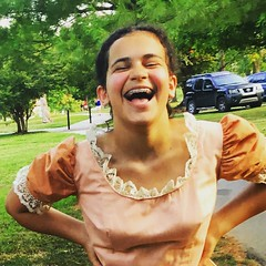 my stunning niece, Maggie, preps for her role in Oklahoma! (mokonkwo) Tags: oklahoma for maggie her niece stunning role preps