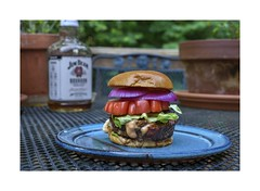 First Juicy Lucy (sorrellbruce) Tags: summer food nikon bbq sandwich hamburgers burgers d750 dining nikkor50mmf18 grilling goodeats grills juicylucy lr6 framefun petebridgwoodsharpeningpresets