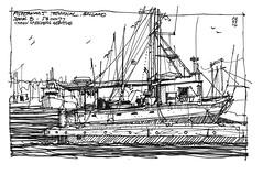 Fishermans Terminal_Kyli (andika.murandi) Tags: seattle sketch sketchbook ballard fishermansterminal urbansketchersseattle