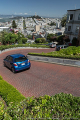 Lombard Street from the Top (3scapePhotos) Tags: sanfrancisco california street city travel urban usa west tower vertical modern landscape coast landscapes office san francisco downtown cityscape top contemporary famous cities cityscapes wallart landmark livingroom coastal coittower westcoast coit crooked lombard lombardstreet 3scapephotos