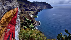 Anaga coast (flowerikka) Tags: sea mountain clouds spain playachica islacanaria playadelasgaviotas anagacoast