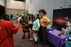 Vanellope, Ralph, Luigi, and some Kingdom Hearts guy (Nelo Hotsuma) Tags: game dallas video smash texas play expo lets cosplay arcade gaming convention plano bros vendors tournaments