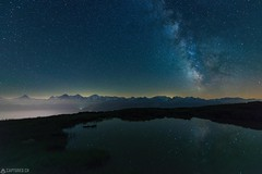 Milky way - Niederhorn (Sinar84 - www.captures.ch) Tags: alps beatenberg bern black brown clear clouds eiger gras green hills jungfrau lake landscape milkyway monch mountains niederhorn night orange red reflection schweiz selfie sky stars swiss switzerland thun water white spiritofphotography
