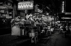 Local street photography of China Town in Bangkok, Thailand. (SUNA_PHOTOGRAPHY) Tags: people blackandwhite bw monochrome night thailand southeastasia chinatown bangkok streetphotography nightmarket