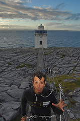 Escape from Black Head (Matthew Sun) Tags: trip ireland friends light sunset sea summer vacation cloud lighthouse faro clare ships cliffs blackhead guide emeraldisle irlanda countyclare gallway countygallway summer2010 escapefear