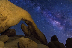 Arch Rock Milky Way (muhammad_elarbi) Tags: life california longexposure nightphotography blue light red sky usa white color texture nature colors rock architecture night canon dark way lens stars fun outside photography star us nationalpark rocks colorful exposure nightimages arch purple natural outdoor live space wide joshuatree wideangle center hobby sharp formation galaxy nebula shutter nightsky mm dust milky f28 ef foreground galactic milkyway 1635 sharpness archrock eflens canonusa teamcanon canon70d