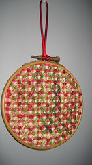 Christmas Ornament (kwgronau) Tags: beads christmas chickenscratch