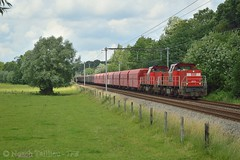 DBCargo 6519 Sint-Mariaburg (TreinFoto Belgi) Tags: essen db 12 roosendaal lijn beverwijk 6510 dbcargo 6519 jemelle omleidingen sintmariaburg kalktreinen staaltreinen