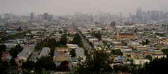 wrong turn view (Alvin Harp) Tags: sf sanfrancisco california cityscape cloudy pano july overcast panoramic bernalheights 2016 teamsony sonya7rii fe24240mm sonyilce7rm2 alvinharp