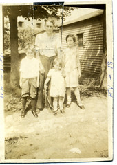Thaddeus Wareham and his kids (ectopaper) Tags: new york family queens late wareham