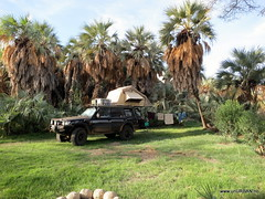 Camping at Palm Shade Lodge in Loyangalani (Malin and Espen) Tags: africa travel lake kenya palm lodge shade espen overland malin unurban turkana expediton aasen loyangalani hiseth hoiseth