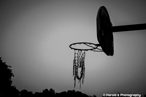lonely basketball goal