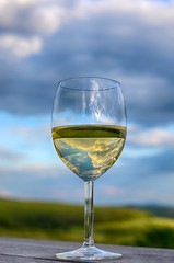 Glass of white wine (Dragos Cosmin- Getty Images Artist) Tags: morning travel sunset sky sun colour tree green tourism nature beauty field grass fruit clouds rural sunrise landscape dawn vineyard spring vines glow wine outdoor farm country scenic meadow winery romania lensflare grapes stunning shiraz growing agriculture transylvania barossa viticulture mures batos reghin lechinta