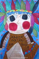 hacemos el indio (lahermanafieltrovitz) Tags: portrait art geometric geometrico colors collage illustration ink watercolor painting hair children artist indian feathers tent painter stitching doodles ilustracion tipi ilustracin bordado plumas hacerelindio fieltrovitz
