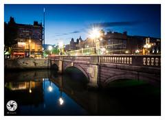 O'Connell Bridge (M Fotografie) Tags: blue ireland dublin reflection cityscape fuji eire liffey trail nighttime fujifilm nightlife bluehour x20 riverliffey lighttrail oconnellbridge 2013 fujix20 ireland2013