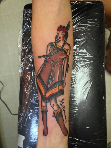 ed8155d13 Native American Indian Girl Pin-up tattoo by KeelHauled Mike of Black  Anchor Tattoo in