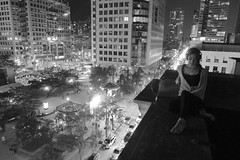 in.my.own.head (jonathancastellino) Tags: leica roof music toronto rooftop festival night ball disco friend thought sitting sandals performance thoughts figure headphones kidkoala headspace immersed ericsan rooftopping luminato luminato2013