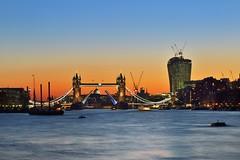 London, Tower Bridge at sunset (Vladimir Zakharov  ) Tags: city sunset london towerbridge riverthames londoncity walkietalkie londonview2013