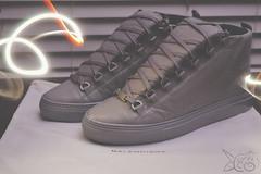Balenciaga Arena Gris Beton (Elisha Johnthunder) Tags: camera light red white black painting foot shoe grey gris nikon slow streak arena shutter sneaker beton balenciaga lightpaint kanye sneakerhead d3200