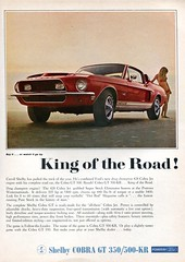 1968 Ford Mustang Shelby Cobra GT 350 500-KR Advertising Road & Track June 1968 (SenseiAlan) Tags: road ford june advertising track cobra 350 shelby 1968 mustang gt 500kr