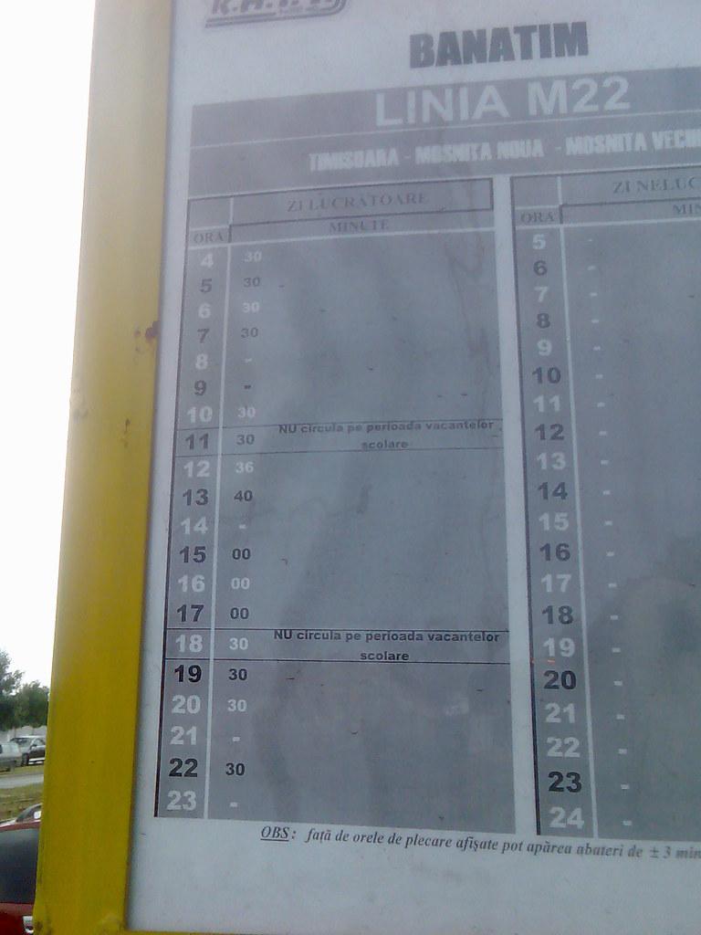 banatim (Visor-Timisoara) Tags  urban bus public station panel transport  romania timetable 9bcffec0ab9