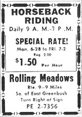 Rolling Meadows Stables 1965   Riding school  east greenbush/albany ny  1960s (albany group archive) Tags: albany ny riding stable 1960s eastgreenbush horse horseback oldalbany history