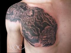 MAYA  PECHO (roca tattoo studio) Tags: art tattoo mexico arte maya aztec mayan mexica tatuaje azteca precolombino prehispanico precolumbiam prehisppanic