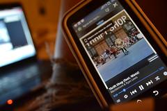 (alexiaantelo) Tags: music nikon play phone song cellphone motorola mobilephone pause tecnology nikon3100 defy