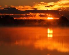 Fire in the Sky (DASEye) Tags: lake reflection fog sunrise reflections fire dawn nikon reflected dayseye davidadamson
