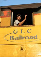 Friendly Wave (M. Lastovich) Tags: bay paint michigan great central lakes trains friendly engineer glc railroads saginaw tuscola 393 tsby gp35
