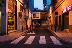 La calle ms corta del mundo (J. Garcia2011) Tags: street color calle nocturna 100 agfa mundane eggleston callejera ultracolor mundano pasocebra emulacin nex5