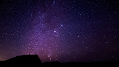 The Milkyway & 3 Shooting Stars (Sigurdur William Photography) Tags: roof light sky white house 3 black night dark way star three iceland clear shooting lit milky milkyway