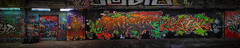 Graffiti pano 21 Oct 2013 (CFX2) (Mat W) Tags: london graffiti tunnel waterloo stitchedpanorama colorefexpro