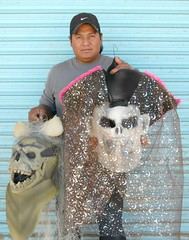 Mask Maker Oaxaca Mexico (Ilhuicamina) Tags: costumes dayofthedead mexico folkart crafts mexican masks oaxaca mexicanas mascaras artesano soledadetla