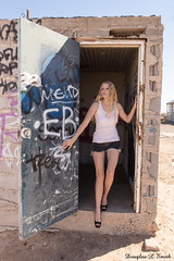 Coming Out (Laveen Photography (aka cyclist451)) Tags: arizona abandoned boyfriend photography model photographer alyssa stevens curls az silo warehouse dirt photograph blonde dust avondale tory caitlain douglaslsmith