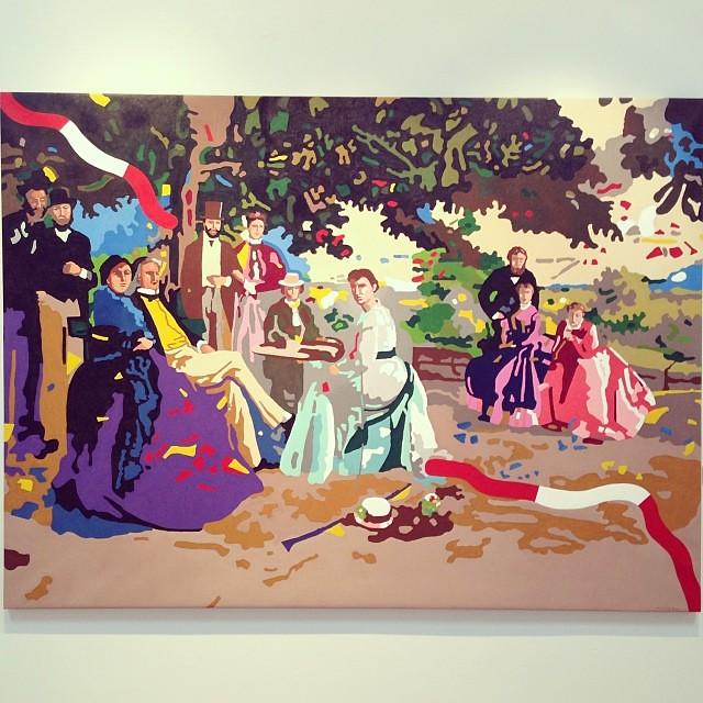 """""""La familia en el jardín. Frédéric Bazill"""" • """"El Diálogo, el Pastiche y la Memoria"""" #muestra individual de Ramiro Pareja Herrera #arte #arteenlima #art #artinlima #artist #artista #pintura #painting"""