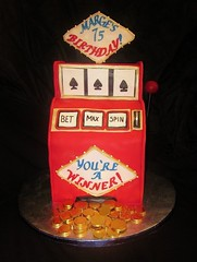 Slot Machine cake (CakesbyMonica) Tags: city las gambling cake machine atlantic slot vages