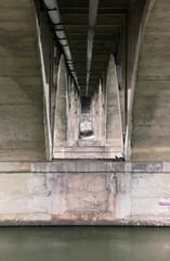 Concrete Cathedral (Mister Day) Tags: bridge vintage concrete calm saskatoon infrastructure saskatchewan broadwaybridge vision:text=0644 vision:outdoor=0866