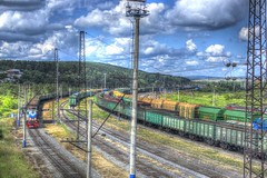 (GhosterzArts) Tags: sky forest lens photography nikon photographer cloudy roman trains wires rails 1855mm nikkor pillars griev d3100