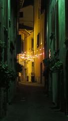 (bobbat) Tags: italy night alley italia lombardia lombardy lagodiseo lakeiseo pilzone